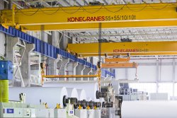 Konecranes develops paper mill cranes to help boost long-term reliability and minimize ownership costs.© Konecranes
