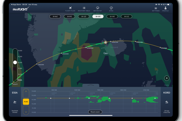 <p>AVTECH's weather tools: While the normal 140K CAT forecast (clear air turbulence)predicts both light,moderate and severe weather for approximately 1 hour and 45 minutes, the tailored High-Resolution CAT forecast predicts only occasional, light turbulence.</p>