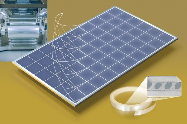 <p><em>Image 2: The output from solar panels can be improved significantly by capturing more of sunlight and redirecting it to the solar cells using embedded cavity optics technology developed by ICS.</em><em> </em></p>